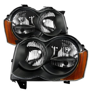 ( xTune ) Jeep Grand Cherokee 08-10 Halogen Model Only ( Don't Fit HID Models )OEM Style Headlights - Black