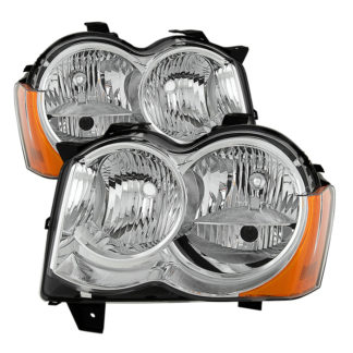 ( OE ) Jeep Grand Cherokee 08-10 Halogen Model Only ( Don't Fit HID Models )OEM Style Headlights - Chrome