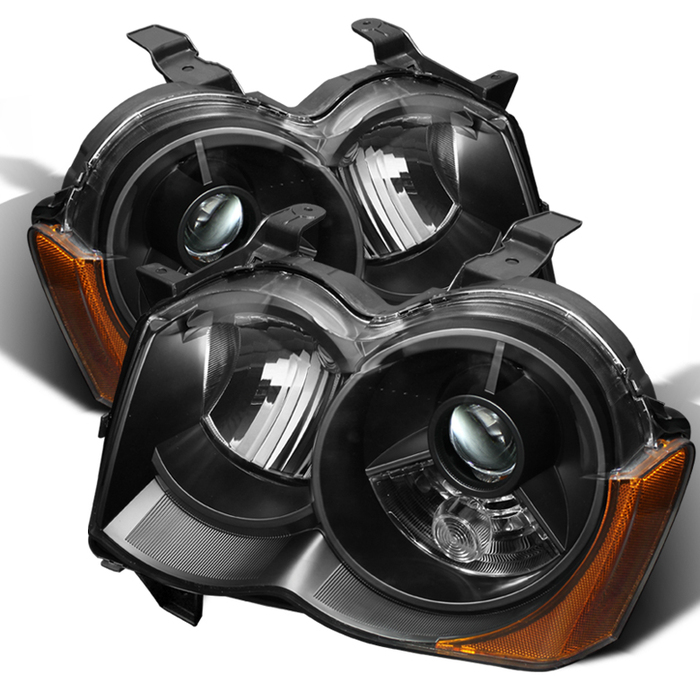 ( xTune ) Jeep Grand Cherokee 2008-2010 Crystal Headlights - Xenon/HID Model Only ( Not Compatible With Halogen Model ) - Black