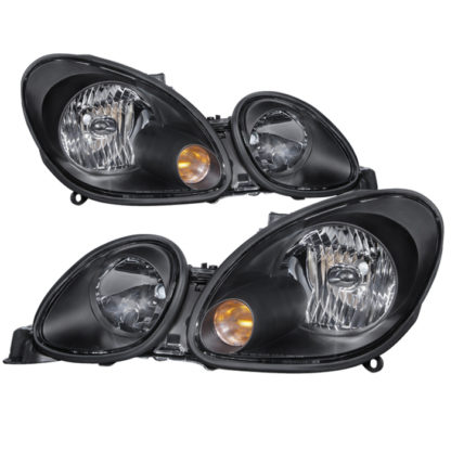 ( xTune ) Lexus GS300/GS400/GS430 98-05 Halogen Only ( don't fit HID model ) Crystal Headlights - Black