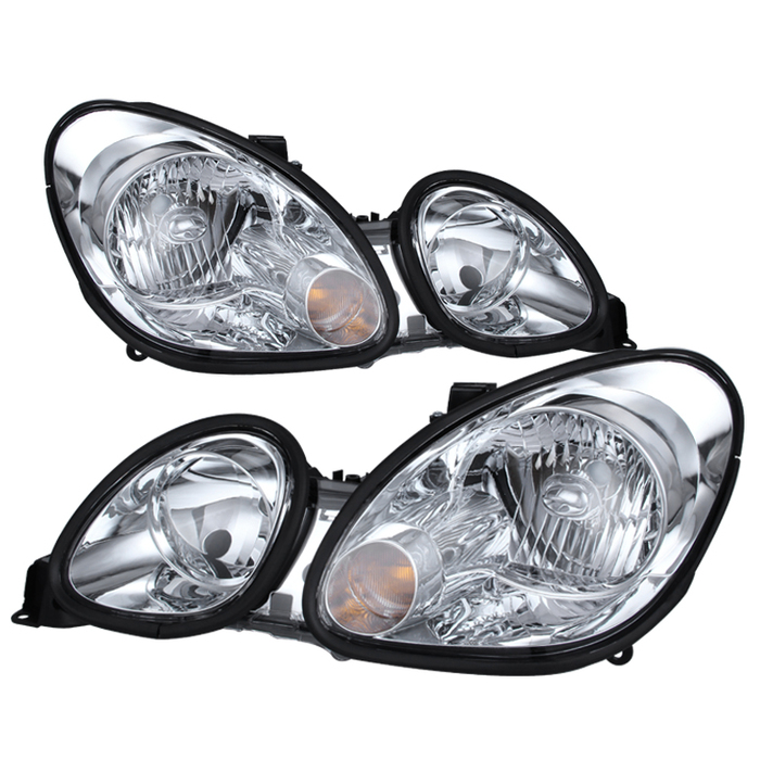 ( OE ) Lexus GS300/GS400/GS430 98-05 Halogen Only ( don't fit HID model ) Crystal Headlights - Chrome