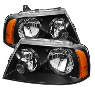 ( xTune ) Lincoln Navigator 2003-2006 Crystal Headlights - Black