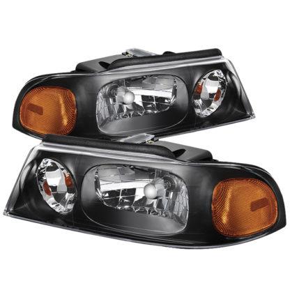 ( xTune ) Lincoln Navigator 98-02 Crystal Headlights - Black