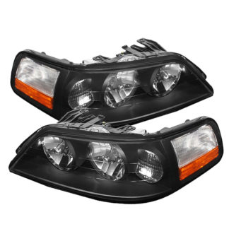 ( xTune ) Lincoln Town Car 05-11 Crystal Headlights - Black