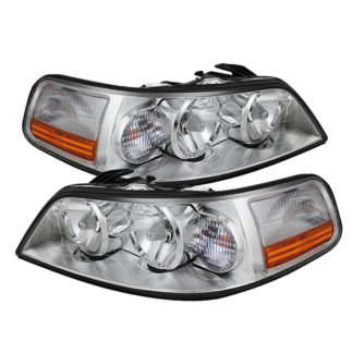 ( OE ) Lincoln Town Car 05-11 Crystal Headlights - Chrome