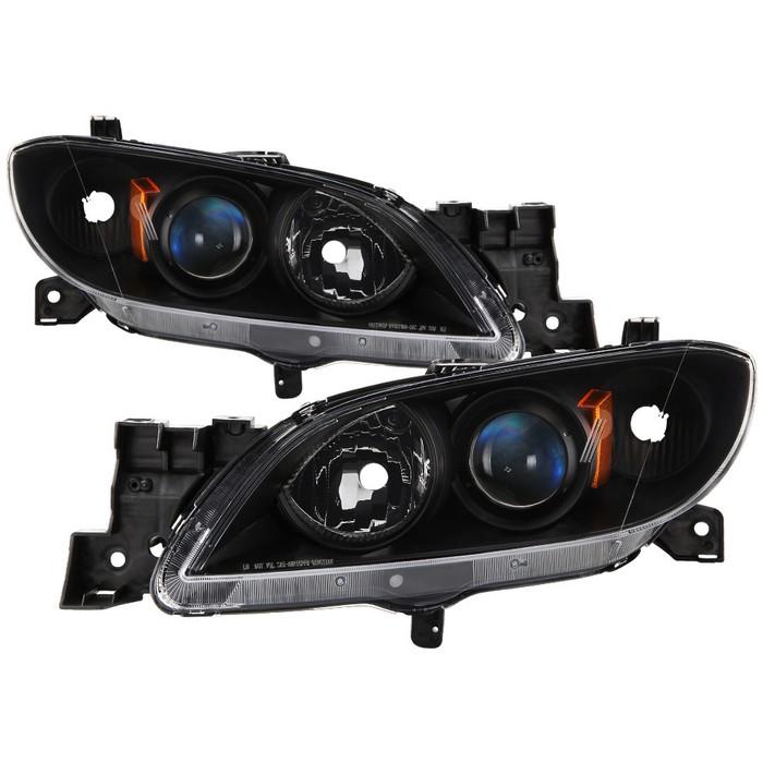 ( xTune ) Mazda 3 Sedan 04-09 Halogen ( Don't Fit Factory HID and 5 dr. Hatchback Models ) OEM Style Headlights - Black