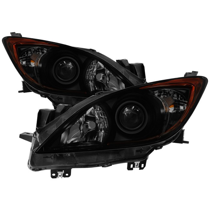 ( xTune ) Mazda 3 2010-2013 Halogen only ( Won't fit HID Models ) OEM Style Projector Headlights - Black Smoked