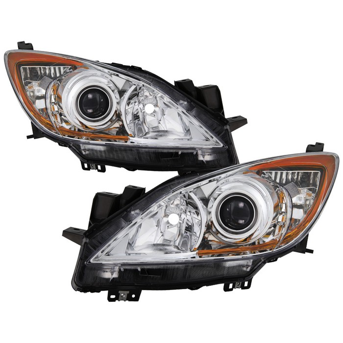 ( OE ) Mazda 3 2010-2013 Halogen only ( Won't fit HID Models ) OEM Style Headlights - Chrome