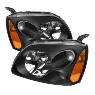 ( xTune ) Mitsubishi Galant 04-08 Amber Crystal Headlights - Black