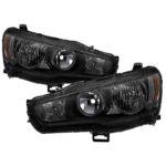 ( xTune ) Mitsubishi Lancer 08-15 OE Style Headlights - Black Smoke