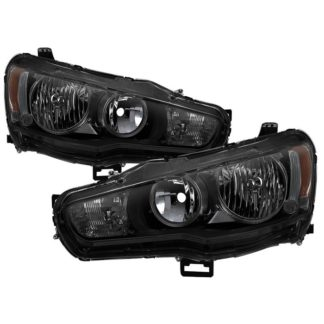( xTune ) Mitsubishi Lancer 08-15 OE Style Headlights - Black Smoke