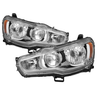 ( OE ) Mitsubishi Lancer 08-15 OE Style Headlights - ALL Chrome