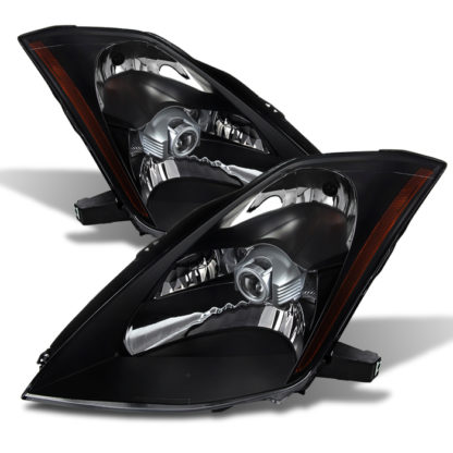 ( xTune ) Nissan 350Z 03-05 Crystal Headlights - Xenon/HID Model Only ( Not Compatible With Halogen Model ) - Black