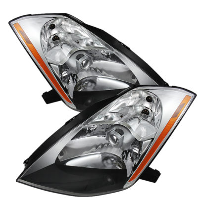 ( OE ) Nissan 350Z 03-05 (HID Model Only) Crystal Headlights - Chrome