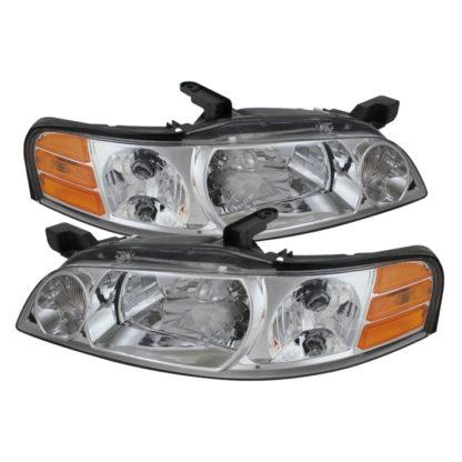 ( OE ) Nissan Altima 00-01Crystal Headlights - Chrome