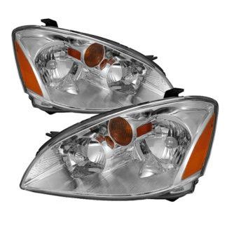 ( OE ) Nissan Altima 02-04Crystal Headlights – Chrome