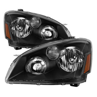 ( xTune ) Nissan Altima 05-06 Halogen Model Only ( Does Not Fit HID Model ) OEM Style Black Bezel Headlights