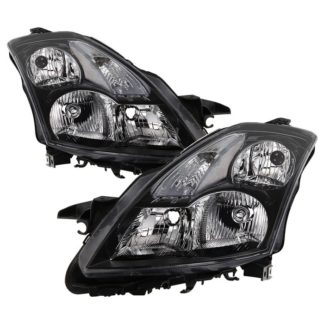 ( xTune ) Nissan Altima 07-09 Sedan Crystal Headlights - Halogen Model Only ( Not Compatible With Xenon/HID Model ) - ALL Black