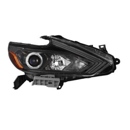 ( OE ) Nissan Altima 16-18 4Dr Passenger Side Halogen Headlight - OEM Black Right