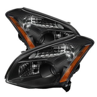 ( xTune ) Nissan Maxima (Halogen Only) 07-08 Crystal Headlights - Black
