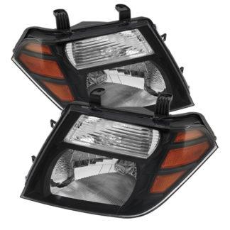 ( xTune ) Nissan Pathfinder 08-11 Amber Crystal Headlights - Black