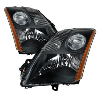 ( xTune ) Nissan Sentra 07-09 L4 2.0L 2.5L Only OEM Style Headlights - Black