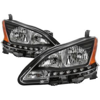 ( xTune ) Nissan Sentra 2013-2015 OEM Style Headlights - Black
