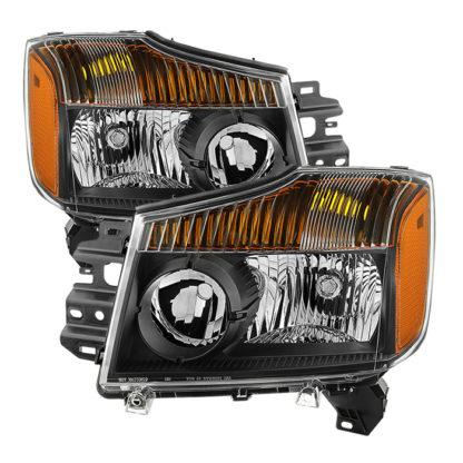 ( xTune ) Nissan Titan 04-15 (08-15 OE Style ) / Armada 04-07 OEM Head Lights set - Black