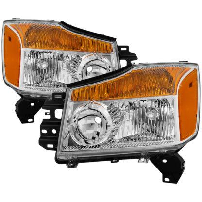 ( OE ) Nissan Titan 04-15 (08-15 OE Style ) / Armada 04-07 OEM Head Lights set - Chrome