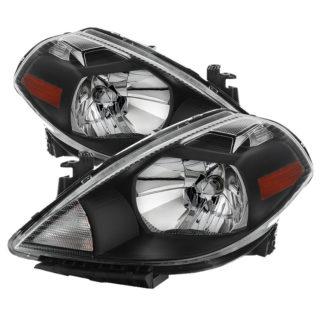 ( xTune ) Nissan Versa 07-12 Crystal Headlights - Black