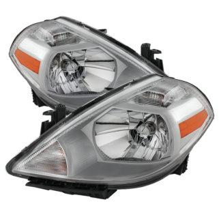 ( OE ) Nissan Versa 07-12 Crystal Headlights – Chrome