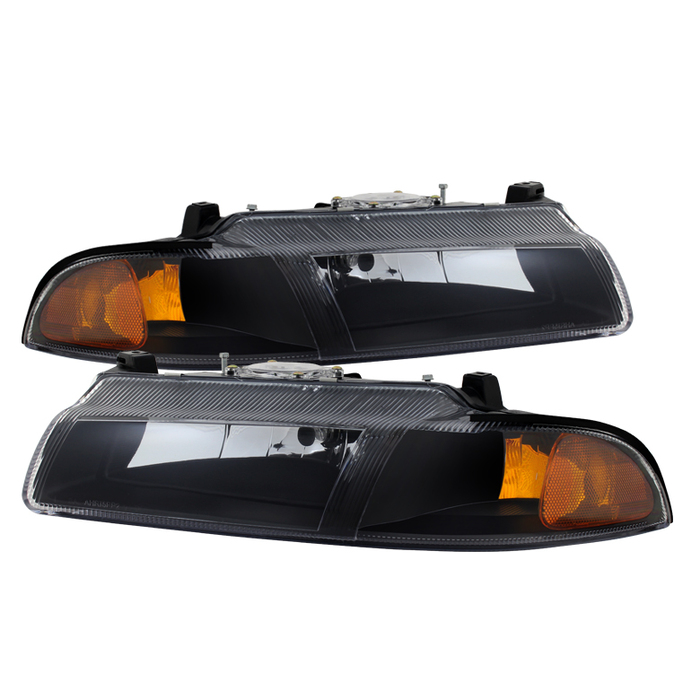 ( xTune ) Plymouth Breeze 96-00/Dodge Stratus 95-00/Chrysler Cirrus 95-00 Crystal Headlights - Black