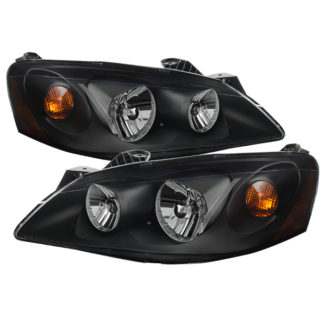 ( xTune ) Pontiac G6 05-10 (09-10 fit  w/Amber Turn Signal) Crystal Headlights – Black