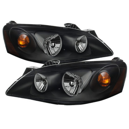 ( xTune ) Pontiac G6 05-10 (09-10 fit  w/Amber Turn Signal) Crystal Headlights - Black