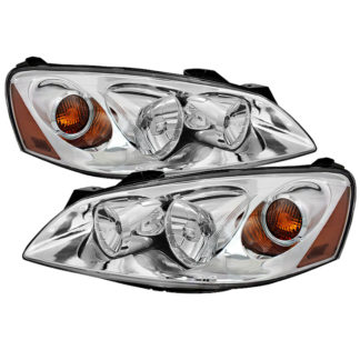 ( OE ) Pontiac G6 05-10 (09-10 fit  w/Amber Turn Signal) Crystal Headlights - Chrome