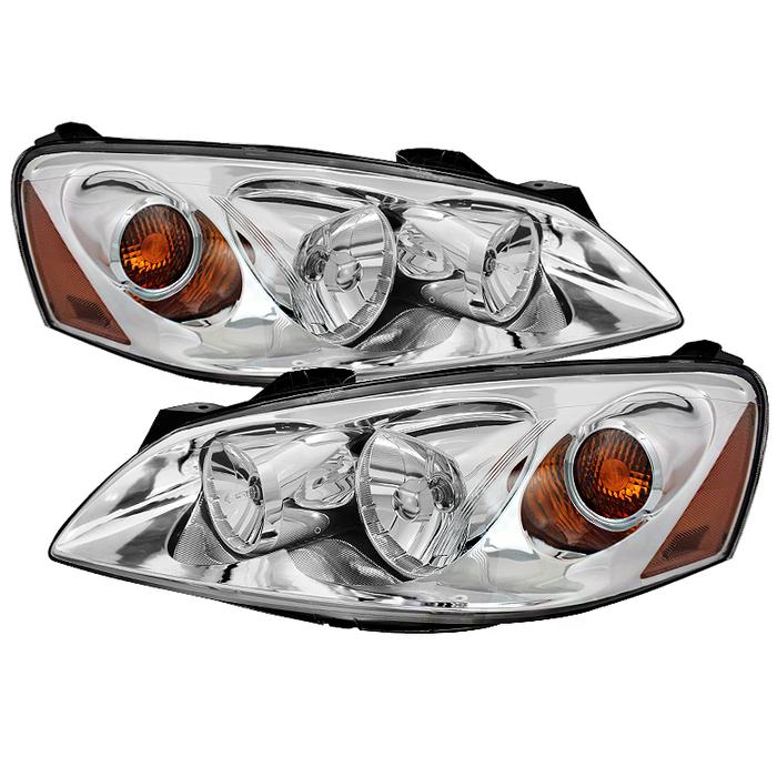 ( OE ) Pontiac G6 05-10 (09-10 fit  w/Amber Turn Signal) Crystal Headlights - Chrome