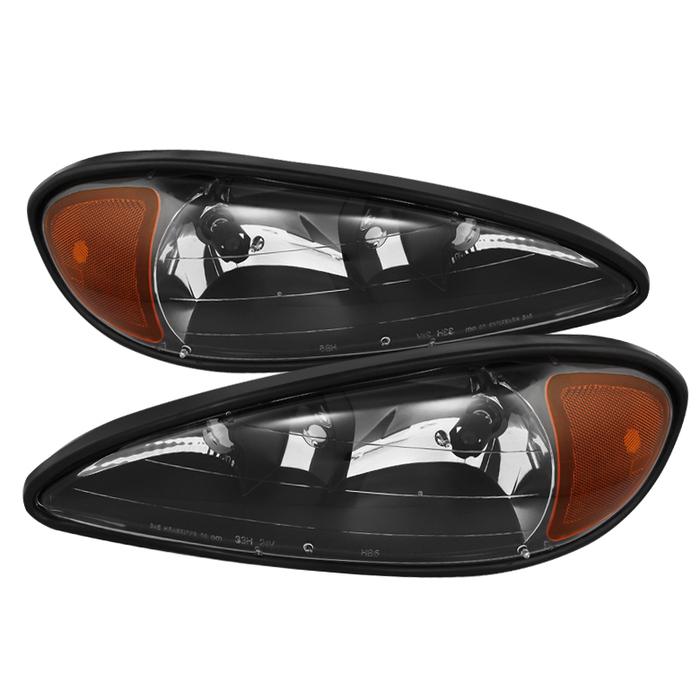 ( OE ) Pontiac Grand Am 99-05 Crystal Headlights - Black