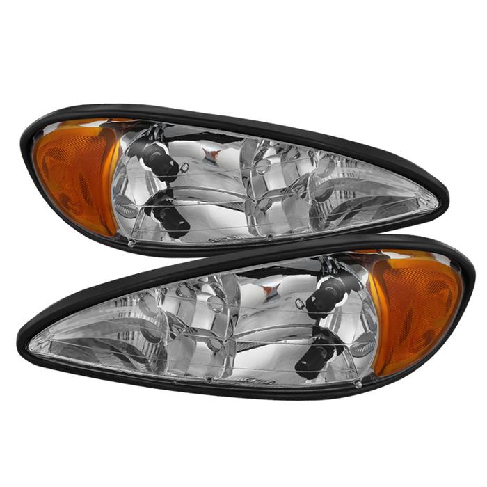 ( OE ) Pontiac Grand Am 99-05 Crystal Headlights - Chrome