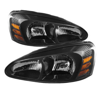 ( xTune ) Pontiac Grand Prix 04-08 Crystal Headlights - Black