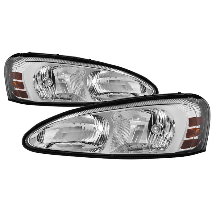 ( OE ) Pontiac Grand Prix 04-08 Crystal Headlights - Chrome