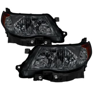 ( xTune ) Subaru Forester 2009-2013 Halogen Only ( Don't Fit HID models ) OEM Style Headlights - Smoked