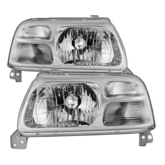 ( OE ) Suzuki Grand Vitara 99-03 / Grand Vitara XL-7 2001 / Suzuki XL-7 02-03 / Suzuki Vitara 99-04 OEM Style Headlights - Chrome