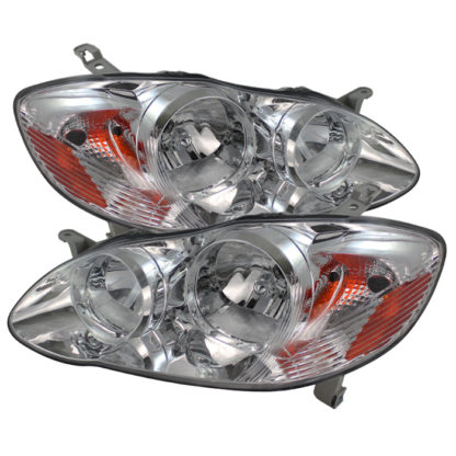 ( OE ) Toyota Corolla 03-06 Crystal Headlights - Chrome