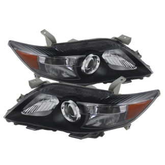 ( xTune ) Toyota Camry 10-11 Amber Projector Headlights - Black  (USA Built)
