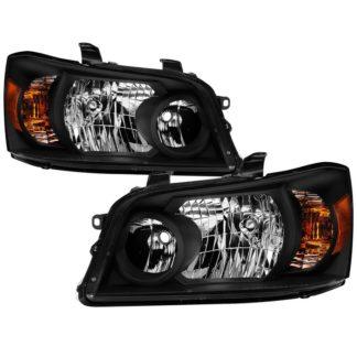 ( xTune ) Toyota Highlander 04-06 ( 2006 excluding Hybrid Models ) OEM Style Headlights - Black