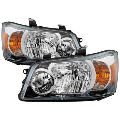 ( OE ) Toyota Highlander 04-06 ( 2006 excluding Hybrid Models ) OEM Style Headlights - Chrome