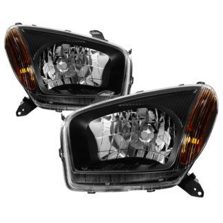 ( xTune ) Toyota RAV4 2001-2003 OEM Style Headlights - Black