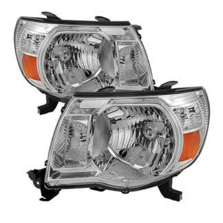 ( OE ) Toyota Tacoma 05-11 Amber Crystal Headlights - Chrome