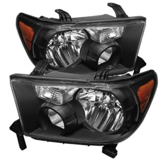 ( xTune ) Toyota Tundra 07-13 / Toyota Sequoia 08-13 OEM Style Headlights ( Will Not Fit Model With Headlight Washer ) - Black