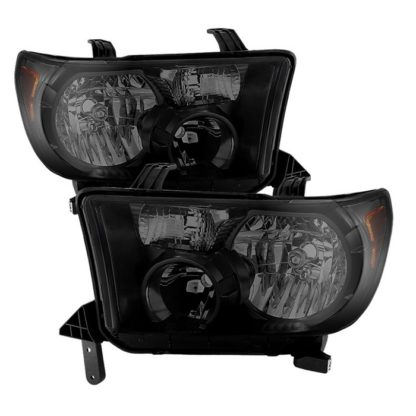 ( xTune ) Toyota Tundra 07-13 / Toyota Sequoia 08-13 OEM Style Headlights ( Will Not Fit Model With Headlight Washer ) - Black Smoked